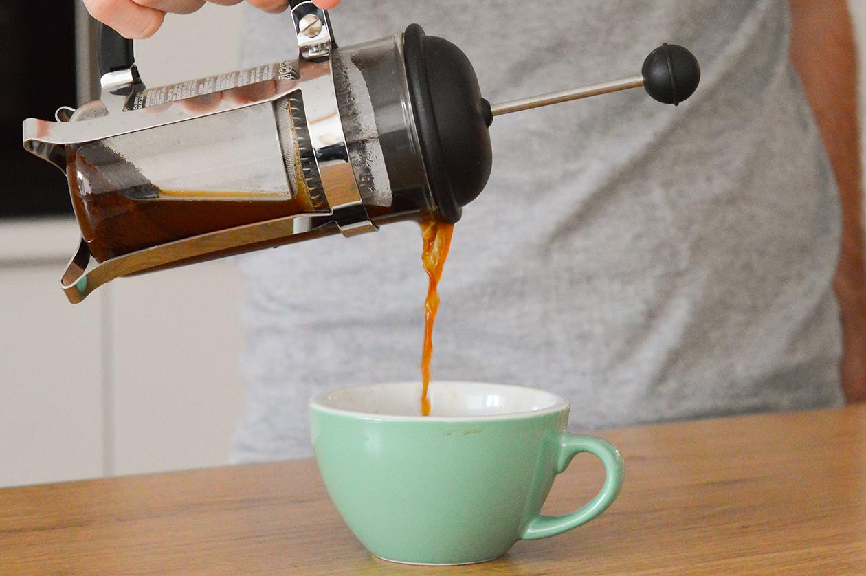 Frenchpress: Kaffee mit der Pressstempelkanne