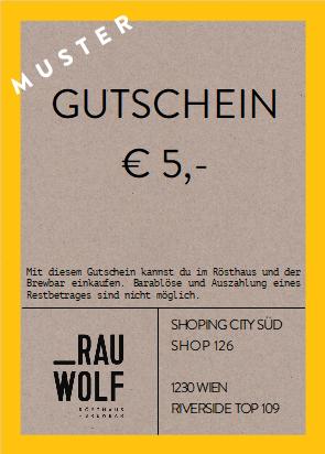 Gutschein €5