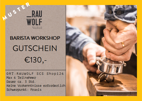 Gutschein Barista Workshop €130